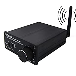 320W Bluetooth Wireless Digital Audio Receiver Power Amplifier For Music A918 aluminum black - by LC Prime®