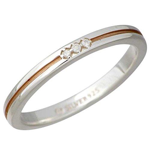 AQUA SILVER アクアシルバー スリーストーン シルバー リング 指輪 ダイヤモンド 7~13号 ASR160L-PGC-DM