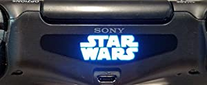 258stickers® PS4 Light Bar Decal Stickers - World Popular American Epic Space Opera Franchise Centered on a Film Series Playstation 4 Starwars Stickers