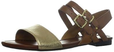 (时尚)其乐Clarks Women's Indira Rue Sandal美女真皮平板凉鞋Tan$56.08