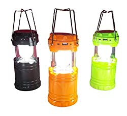 Ape Ultra Bright 6 LED Lantern - Camping Lantern, Solar USB Rechargeable Camping Light Flashlight