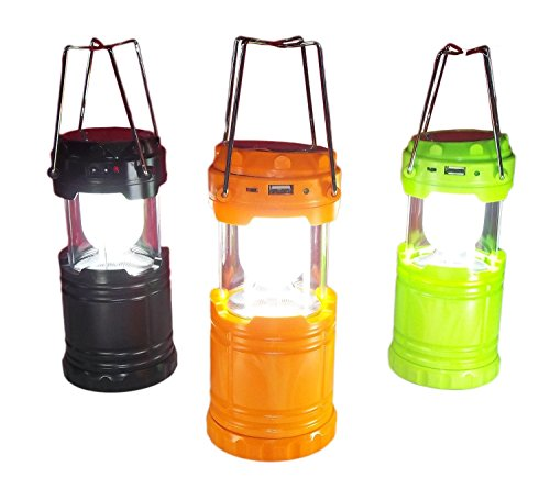 Ape Ultra Bright 6 LED Lantern – Camping Lantern, Solar USB Rechargeable Camping Light Flashlight