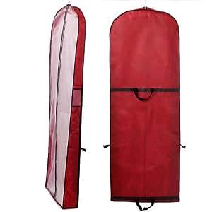 breathable wedding gown dress garment clothes cover bag 73 long zip for wedding dresses. Black Bedroom Furniture Sets. Home Design Ideas