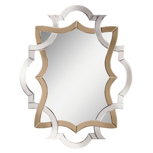 White Bedroom Vanity With Mirror front-66215