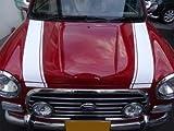 ダイハツ車 L700系 ミラジーノ カスタム ボンネットストライプ ホワイト