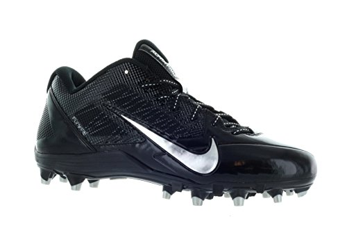 Nike Men`s Alpha Pro TD Football Cleats Size 15 Black Metallic Silver