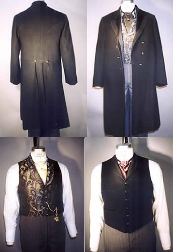 Men's Vintage Reproduction Sewing Patterns 1850-1915 Mens Coats Vests $17.95 AT vintagedancer.com
