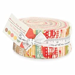 Moda Pre Cut Fabrics Fig Tree & Co Strawberry Fields Revisited Jelly Roll 40 Strips
