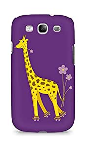 Amez designer printed 3d premium high quality back case cover for Samsung Galaxy S3 Neo (Purple giraffe)