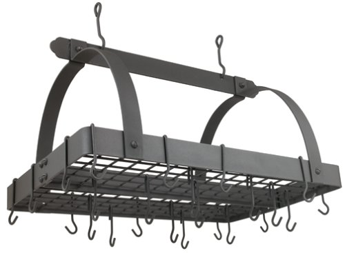 Old Dutch 30-by-20-Inch Rectangular Pot Rack, Graphite