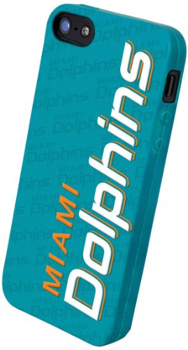Best Price Forever Collectibles Miami Dolphins Team Logo Silicone Apple iPhone 5 & 5S Case