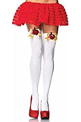 Leg Avenue Womens Poison Apple Opaque Thigh Highs White O/s