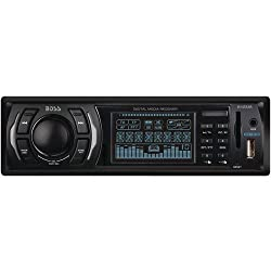 See Boss Single-Din Digital Media Receiver with Front Panel SD, USB and AUX Input Details