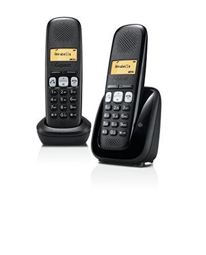Gigaset A 250 Duo Telefono Fisso Senza Filo, Nero