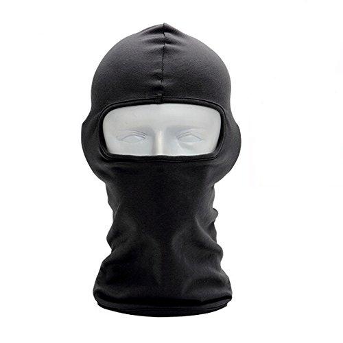 Ezyoutdoor Black Lycra Fabrics Full Face Mask for Motorcycle Cycling Bike Bandana Hiking Skateboard