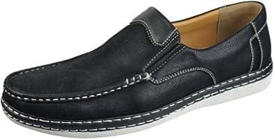 Sedagatti Mens Luxury Casual Black Loafer Shoes