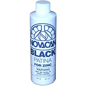 Novacan Black Patina For Zinc 8oz