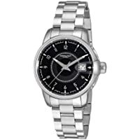Hamilton H40415135 Rail Road Black Dial Men's Watch (Silver)