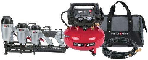 Factory-Reconditioned Porter Cable PC3PAKR 3-Gun Nailer Compressor Combo Kit