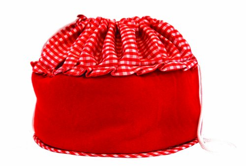 Bun Warmer - Insulated Bun and Bread Warmer and Basket - Keeps Warm for up to One Hour (Red) (Electric Bun Warmer compare prices)
