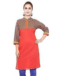 Alobha Girls & Women Printed Cotton Kurta (AGKI-13)