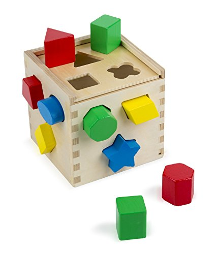 SMATTER-Wooden-Shape-Sorting-Box-13-Hole-Cube-For-Shape-Sorter-Cognitive-And-Matching-Wooden-Toys