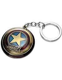 RainSound High Quality Captain America Shield Keychain