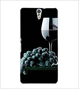 PrintDhaba Black Grapes D-4308 Back Case Cover for SONY XPERIA C5 ULTRA (Multi-Coloured)