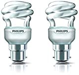 Philips Tornado B22 8-Watt CFL (Warm White and Pack of 2)
