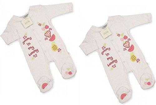 2x Baby-Strampler Gr.56 im Doppelpack/ Zwillingsset speziell für Zwillinge Mädchen Zwillingskleidung zwillinge geschenk