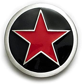 Amazon.com: PUNK RED STAR Belt Buckle Rockabilly Ska Tattoo: Clothing