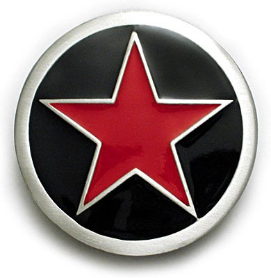 PUNK RED STAR Belt Buckle Rockabilly Ska Tattoo - Buy PUNK RED STAR Belt