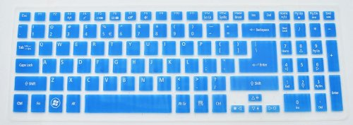 Folox Tm Colored Keyboard Protector Cover For Acer Aspire M3-581T M3-581Ptg M5-581G M5-581T V5-571G V5-571Pg V5-551G V5-531P (Blue)