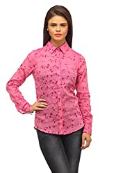 Ladybug Women Printed Full Sleeve Shirt in Pink Print