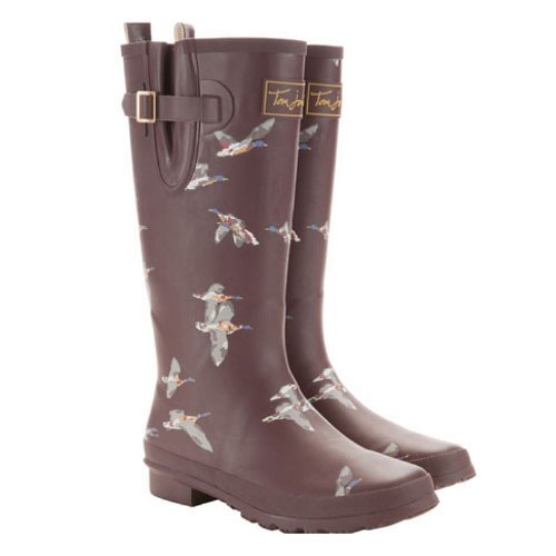 Joules New Welly Print - Mulled Wine - 4