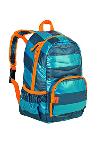 Lassig 4Kids Mini Quilted Backpack, Striped Petrol/Blue
