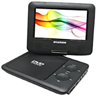Sylvania Portable DVD Player SDVD7027-C, 7-Inch, Swivel Screen, Black