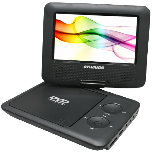 Read About Sylvania SDVD7027, 7-Inch Portable DVD Player with Car Bag/Kit, Swivel Screen, USB/SD Car...