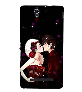 Kiss Of Prince and Princess 3D Hard Polycarbonate Designer Back Case Cover for Sony Xperia C3 Dual :: Sony Xperia C3 Dual D2502