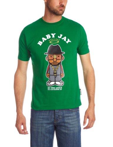 Two Angle Caster Printed Men's T-Shirt Green Medium