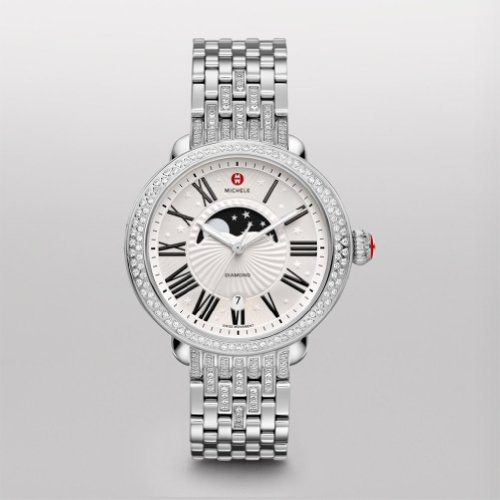 Michele Serein Diamond Moon Phase, Taper Diamond Bracelet Mww21d000001
