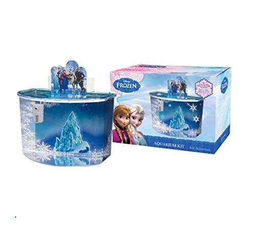 Disney frozen 3d fish tank plastic aquarium 4 5 gallon for Disney fish tank