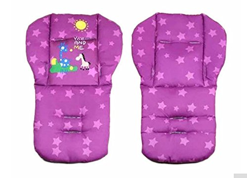 Purple Color Baby Stroller Mat Cotton Cartoon Animal Printed Chair Seat Cushion Pad Soft Cushion Car Seat Thick Padding 0-36 Months (Baby Bath Ring Fisher Price compare prices)