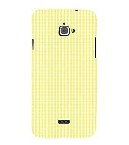 Yellow Pattern 3D Hard Polycarbonate Designer Back Case Cover for InFocus Bingo 50