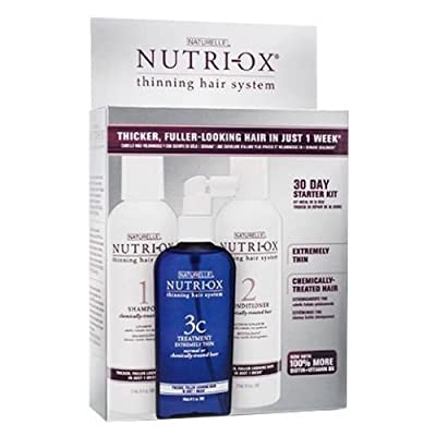 Nutri-ox 30 Day Kit for Extremely Thin Chemically Treated Hair Loss Treatment Fast Shipping