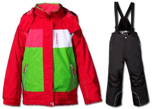 Icepeak Kinder Schneeanzug RHEA KD Skianzug Skijacke Skihose pink schwarz bestellen