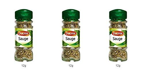 DUCROS - Poivres Herbes Epices - Herbes - Sauge - 12 g - lot de 3