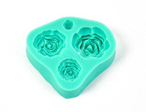 Hot 3D Rose Flower Silicone Mold for Fondant Cake Decorate Chocolate Cookie Soap Fimo Polymer Clay Resin Cutter DIY Tools (Resin Cookie Mold compare prices)