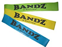 "Exercise Bands - ""BANDZ"" Workout Bands 3 Piece Set - Premium Quality Latex Loop Resistance Bands for Fitness Training Workouts - Perfect For Strengthening and Toning, Physical Therapy, Pilates, Yoga, Stretching Exercises, Post Injury or Surgery Rehabilitation - Incorporate Into Your Favorite Fitness Workout Routine Including: Insanity Workout, P90X, Brazil Butt Lift, Focus T25 - Convenient Storage Tube and Exercise Instruction Sheet Included - Lifetime Guarantee !!"