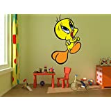 Decal Style Tweetie Wall Sticker Small Size- 14*24 Inch Color - Multicolor